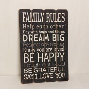 Other - Family Rules sign wall decor